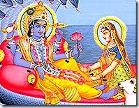 Lakshmi Narayana in Vaikuntha