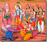 Bhishma thought of Krishna at the time of death