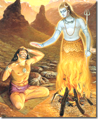Vrikasura praying to Lord Shiva
