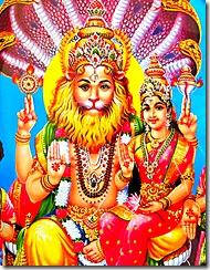 Narasimha Deva with Goddess Lakshmi