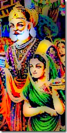 King Janaka and his wife