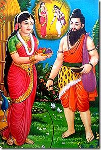 Ravana approaching Sita