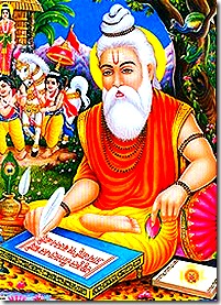 Valmiki writing the Ramayana