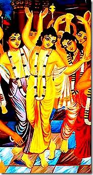 Lord Chaitanya chanting Hare Krishna