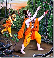 Rama and Lakshmana looking for Sita