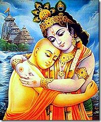 Lord Chaitanya with Krishna
