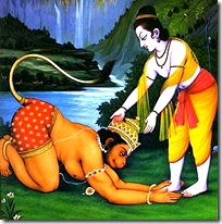 Lord Rama meeting Hanuman