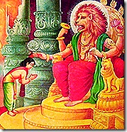 Narasimhadeva with Prahlada