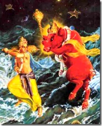 Lord Varaha killing Hiranyaksha