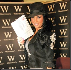 Katie Price at Waterstones