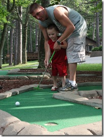 Free Mini Golf at Lake Rudolph Campground & RV Resort