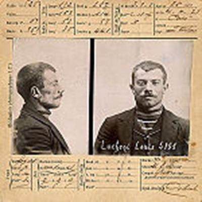 Ficha policial de Luigi Lucheni.