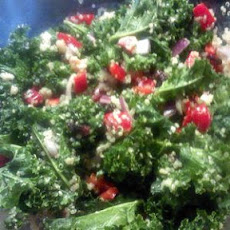 Colorful Kale Salad with a Ginger Lemongrass Vinaigrette