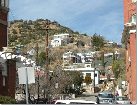 Bisbee houses on hill