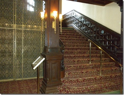 The Del main staircase and elevator