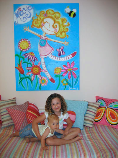 Personalized Canvas Portraits: Maya in her room