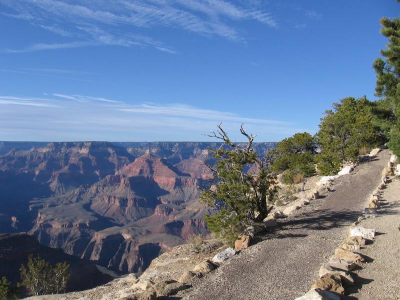 Chemin au bord du Grand Canyon