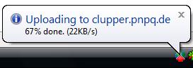 clupper-uploading