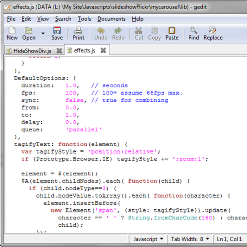 gedit text editor now available on Windows