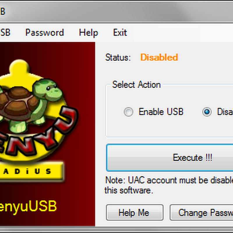 PenyuUSB disables USB ports, protects with password