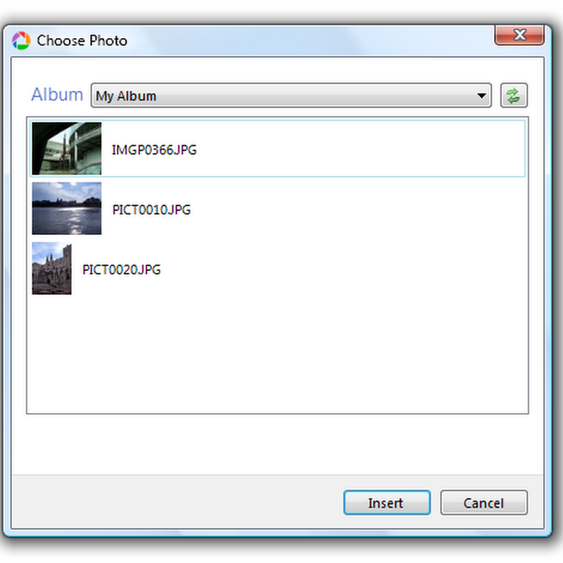 Add Picasa images to your blog from Windows Live Writer