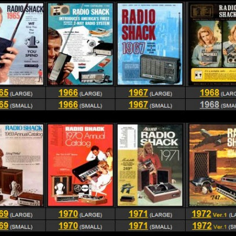 View 65 years of RadioShack catalogs online