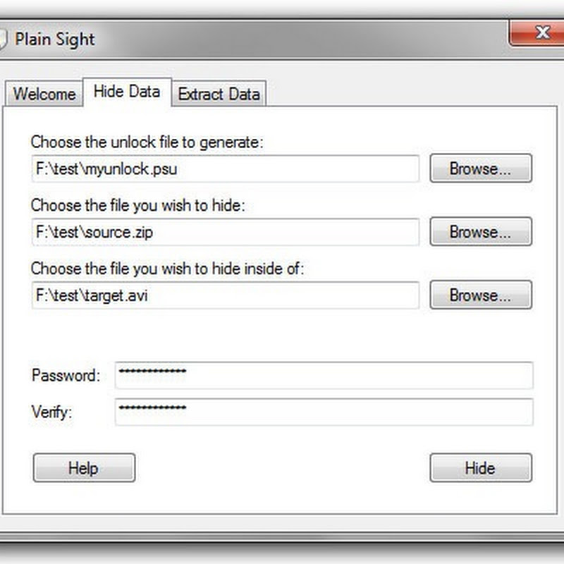 Hide files within other files with Plain Sight