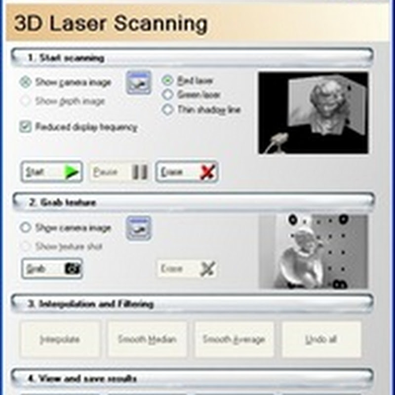 DAVID-Laserscanner - Create 3D models with a laser and a camera