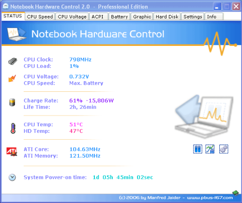 Notebook-hardware-control