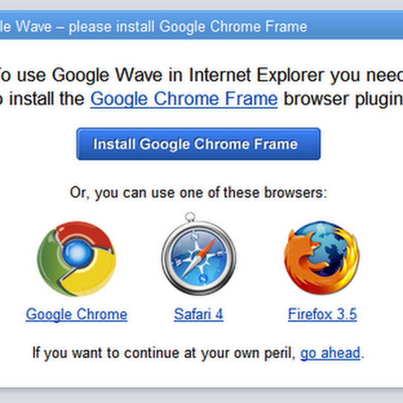 Run Google Chrome inside IE. So what's the big deal?
