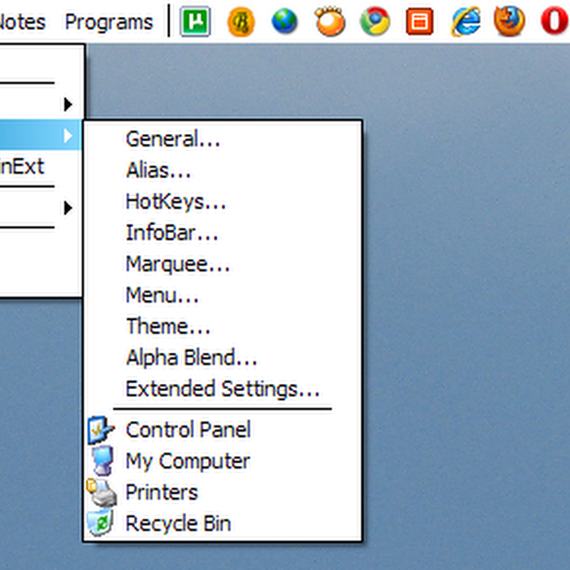 WinExt – Gnome like horizontal top bar for Windows
