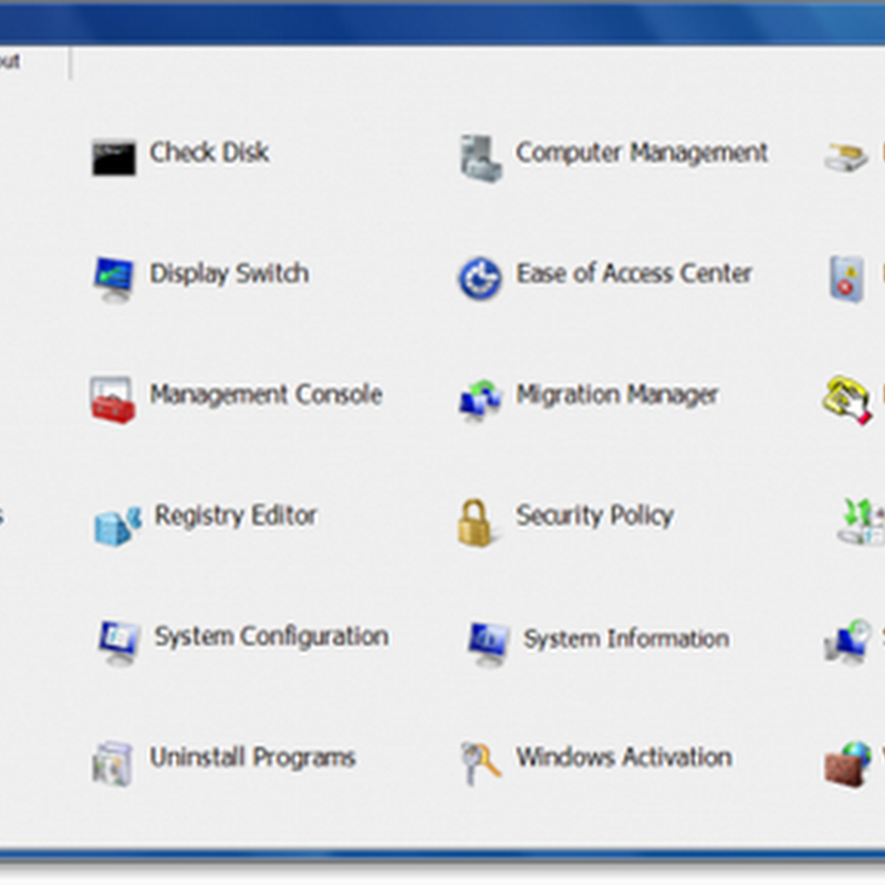 Windows Access Panel – Simplified control panel for Windows Vista and 7