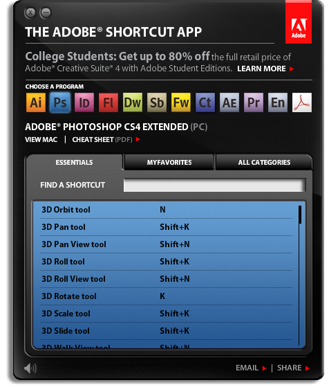 AdobeShortcutApp