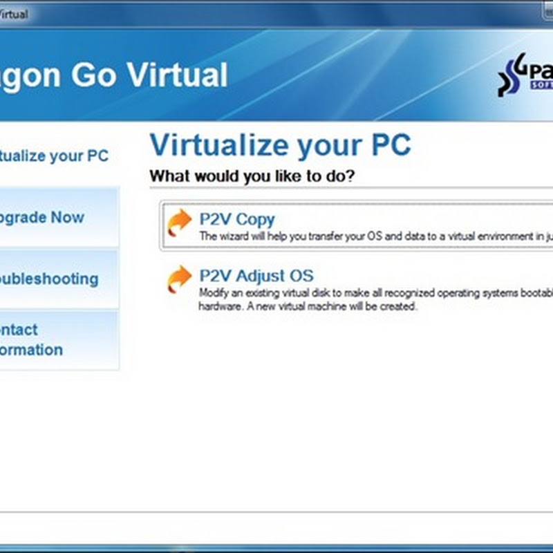 Paragon Go Virtual - Create virtual clone of a physical PC