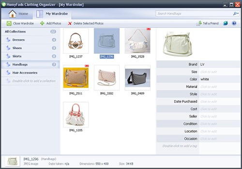 free wardrobe inventory software 2