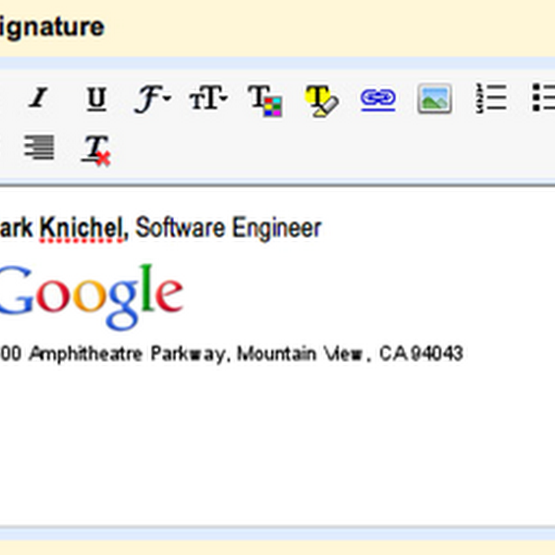Rich text signatures comes to Gmail