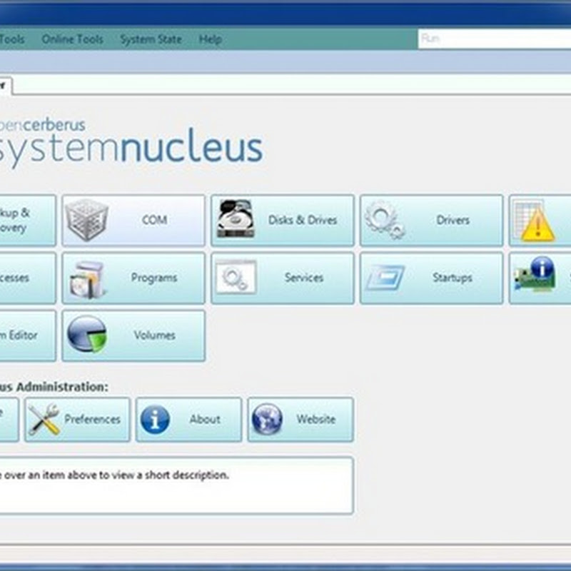 System Nucleus  All-in-one Windows diagnostic, backup and management tool
