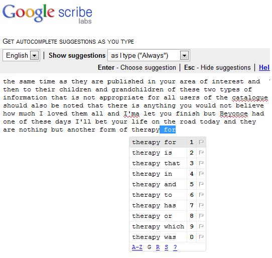 google-scribe-gone-haywire