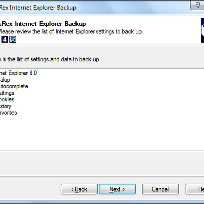 Backup and restore Internet Explorer settings