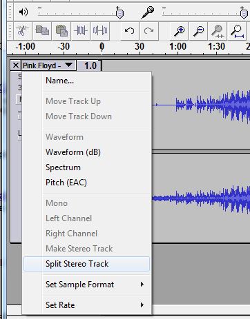 audacity-split-track