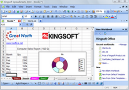 Kingsoft Spreadsheets 2010