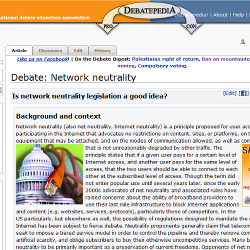 Debatepedia, The Wikipedia of Debates