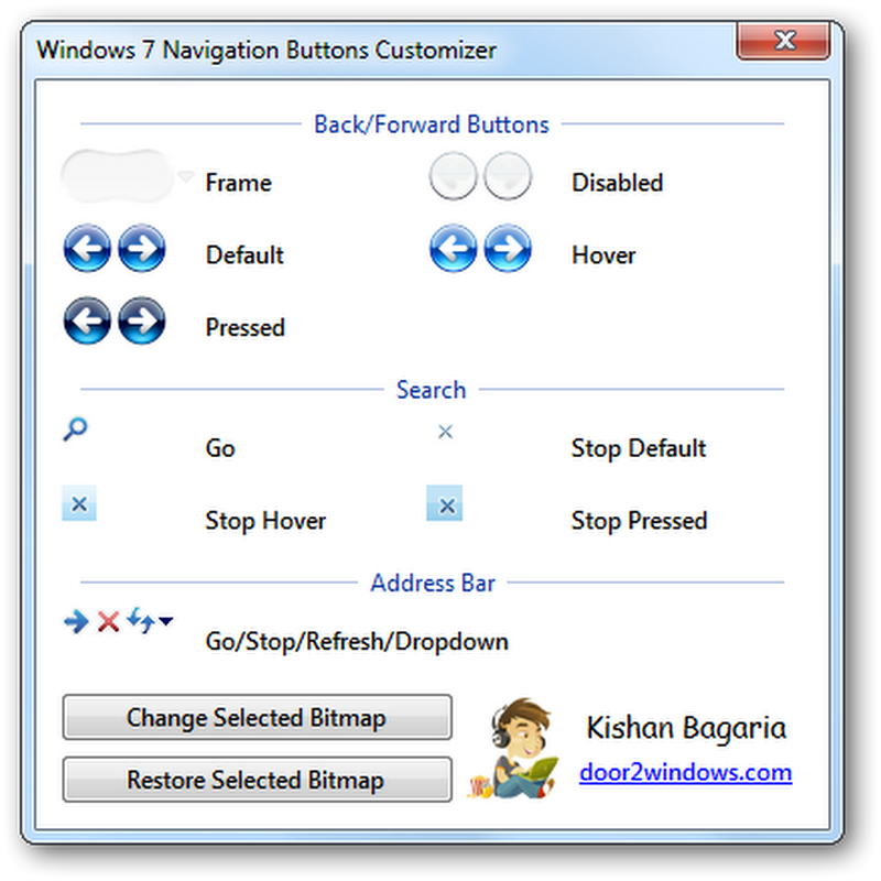 Change Windows 7 Explorer Navigation Buttons