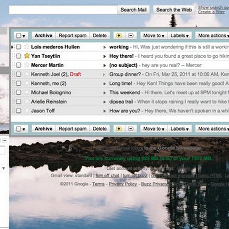 Customize Gmail Themes With Your Own Background Images