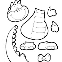 Dinosaur Cut Out Coloring Page Cut Out Coloring Pages