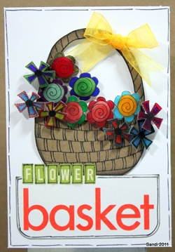 7 Flower Basket Card