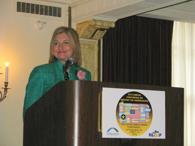 NCUA Board Chairman Debbie Matz during her keynote address at the Federation's 36th Annual Conference on Serving the Underserved.