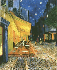 The Cafe Terrace on the Place du Forum at Night