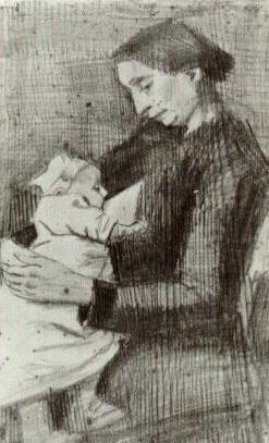 Sien Nursing Baby, Half-Figure
