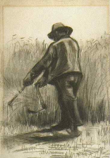 Peasant with Sickle, Seen from the Back